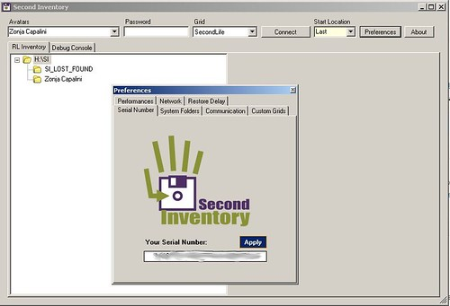 0798 - Second Inventory - Preferences panel