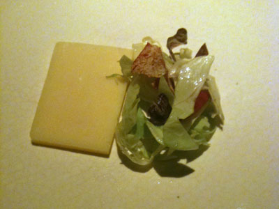 Comte (Marcel Petite) and Chicory Salad