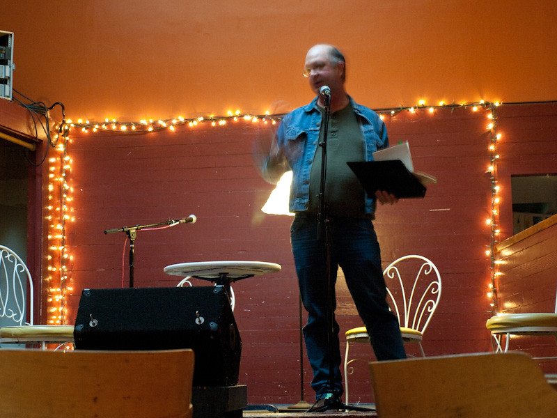 Craig at Poetry Night