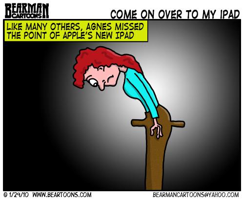 1 29 10 Bearman Cartoon Apple Ipad Sanitary Napkin