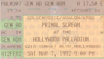 Primal Scream, Palladium