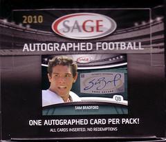 2010 SAGE Autographed box