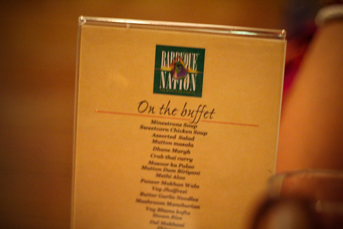 Menu Card - The World on a Grill | Barbeque Nation