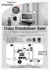Electrolux Crazy Knockdown Sale