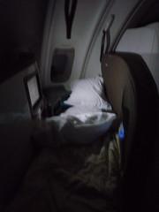 Air New Zealand Biz Class Bed