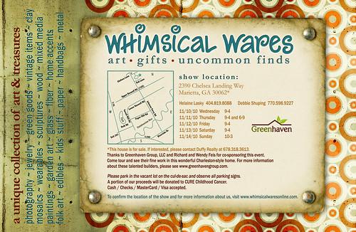 Whimsical Wares Show, November 10-14 2010