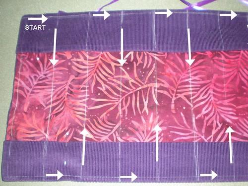 crayon roll stitching pattern