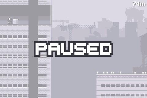 Canabalt pause screen
