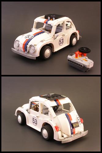 Lego Herbie PowerFunctions Lugnuts Challenge