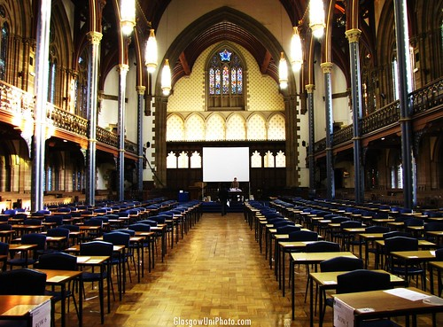 Exams in Bute Hall