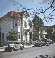 BH114 Bunker Hill, Los Angeles - Late 1950s.  This copyrighted photograph was taken by George Mann of the comedy dance team, Barto & Mann.jpg