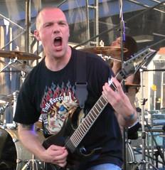 Patrick Uterwijk of Pestilence at Maryland Deathfest VIII