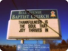 thankfulness is the soul that joy thrives in !