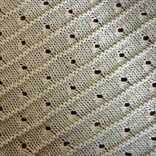Studio Paars gebreide baby deken knit breien baby blanket knitting
