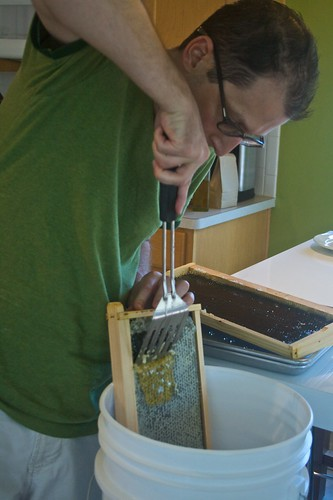 Scraping off the honey