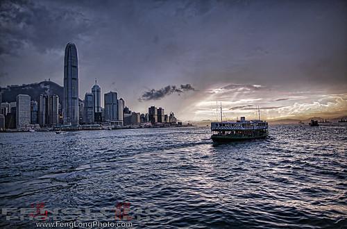 Tsim Sha Tsui Ferry to Hong Kong HDR