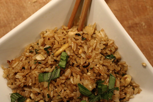 thai basil friend rice