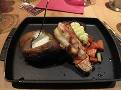 Steak, lobster tail