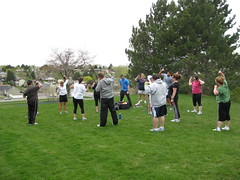 Outdoor Boot Camp in the Wind! Whooooo!!!!!