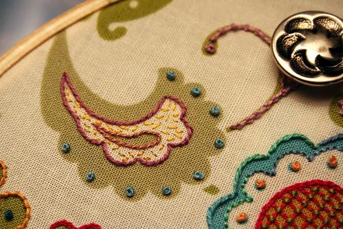 Floral Fabric Sampler - Detail