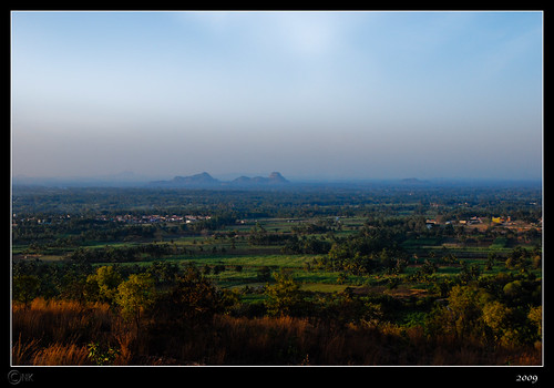 Karighatta   A view showing the distant Kunti Betta