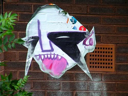 Grafitti Face on Ely Bridge