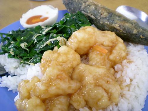 Sibu's chap fan or mixed rice