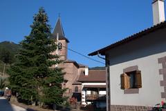 La iglesia de San Gil escondida tras un abeto
