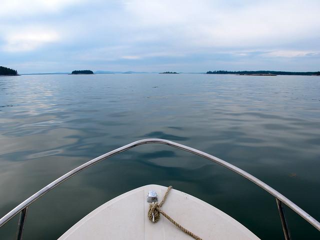 on the boat, Stonington ME