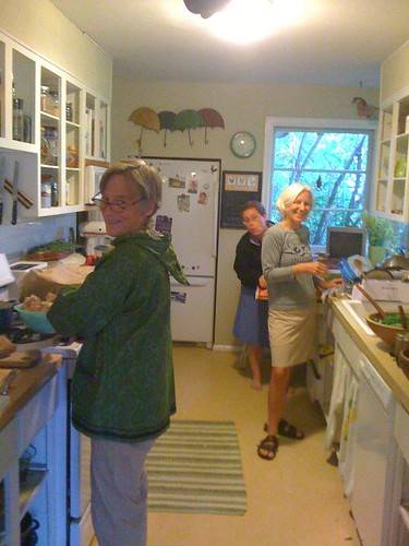 gals in the kitchen