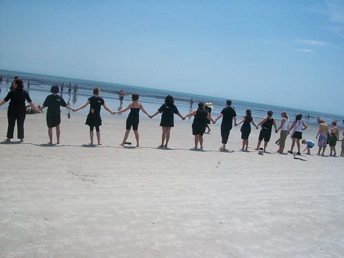 Paul Mitchell the School Jacksonville Green Team - Hands Across  the Sand 2 by Paul Mitchell the School Jacksonville.