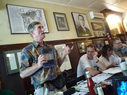 Len Edgetly shows Kindle cases at Boston Media Makers July 4th, 2010