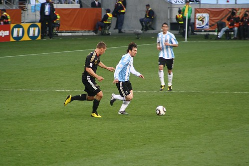 Lionel Messi,  Lukas Podolski and Ángel by sdhansay, on Flickr