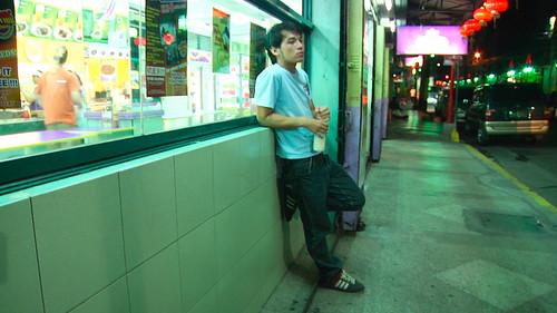 MARTIN watches the chinatown surrounding at night