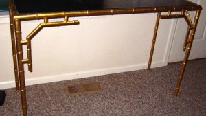 bamboo brass dressing table canity
