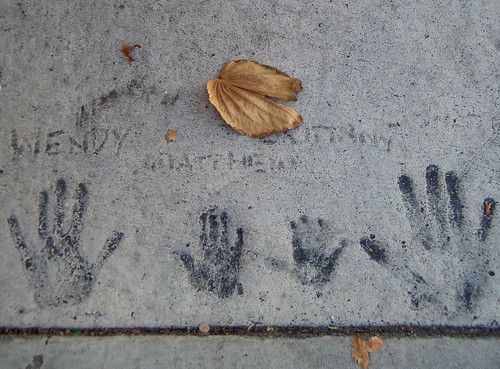 Sidewalk Handprints