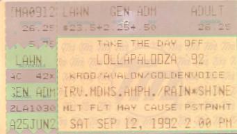 Lollapalooza 1992, Irvine Meadows