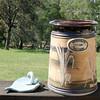 Montville Pottery. Leaf dish and utensil holder