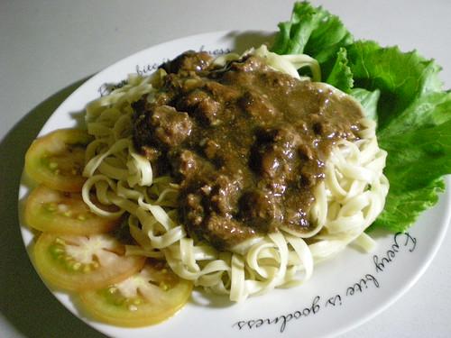 STP's steak and mushroom noodles 2
