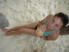 Jeden Tag eine frische Kokosnuss!