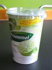 Lime soy yoghurt