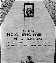 Lapide Paolo Bertoleoni, Re di Tavolara