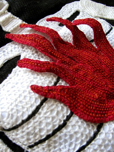 Stumpwork Skeleton-Fire Banner Detail4