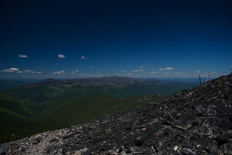 Thompson Peak seen from Baldy Mountain