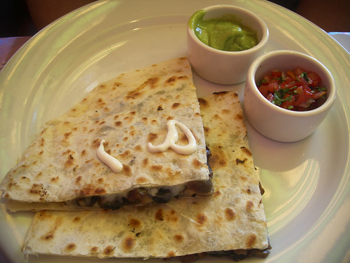 quesadillas of mushroom and huitlacoche at Pepito