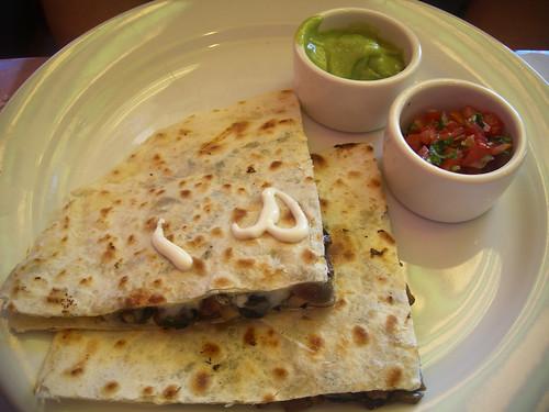 quesadillas of mushroom and huitlacoche at Pepito