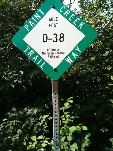 Creek trail sign