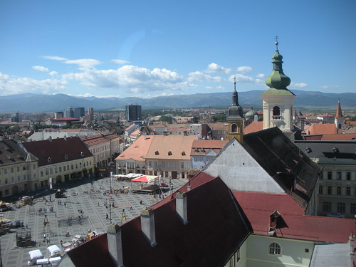 View of Sibiu from city tower
