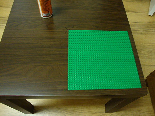 IKEA Lack Table Becomes LEGO Table For Preschooler
