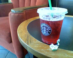 Morning snack: venti unsweetened iced passion tea